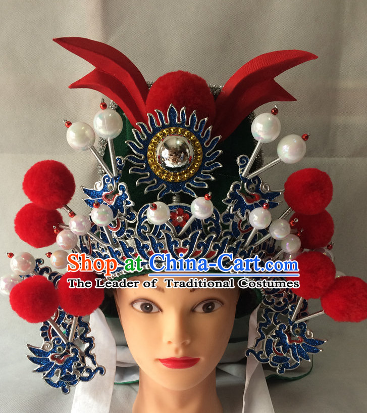 Chinese Opera General Superhero Hat for Men