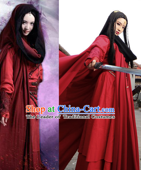Chinese Classic Costume Ancient China Swordswoman Han Dynasty Costumes Han Fu Dress Wear Outfits Suits Clothing for Women
