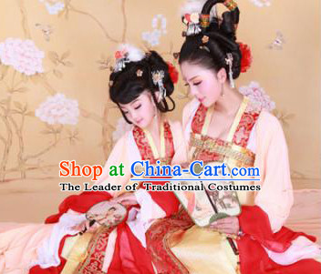 Chinese Tang Dynasty Costume Ancient China Costumes Han Fu Dress Wear Outfits Suits Clothing for Mother and Daughter