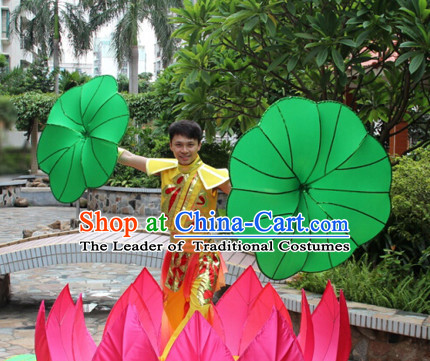 Giant Chinese Dance Apparel Flower Props Folk Dancing Prop Lotus Decoration