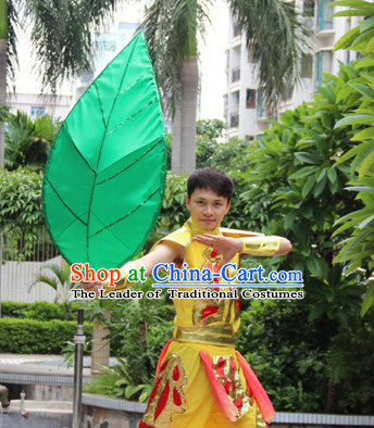 Giant Chinese Dance Apparel Flower Props Folk Dancing Prop Leaf Decoration