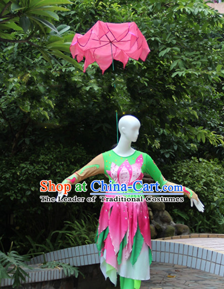 Chinese Dance Apparel Flower Props Folk Dancing Prop Lotus Hair Decoration Headdress Headwear