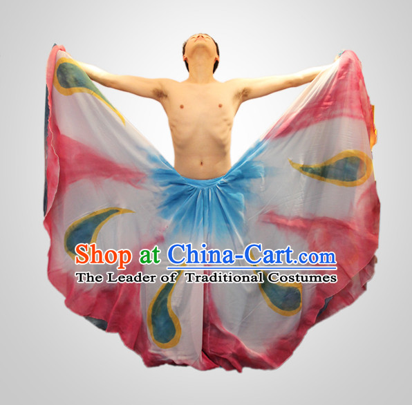 Chinese Folk Peacock Dance Costumes for Men