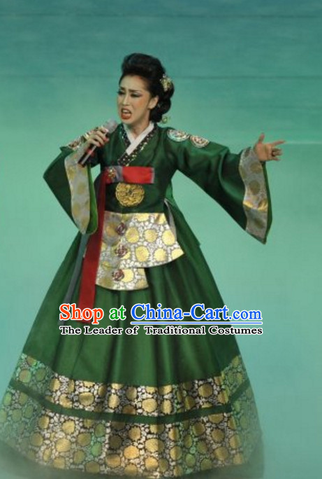 South Korean North Korea Chaoxian Ethnic Minority Folk Dance Costumes Complete Set for Women