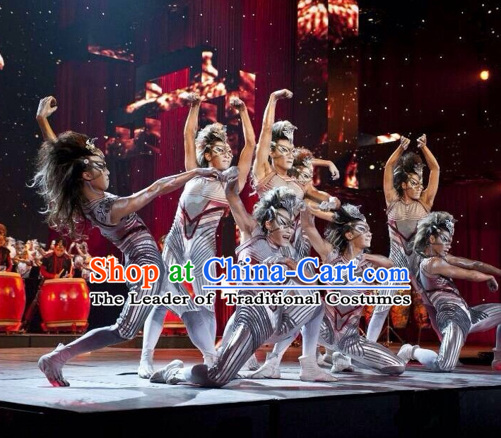 Chinese Classic Wolf Dance Costumes Complete Set for Men