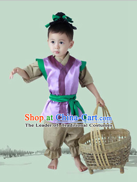 Chinese Costume Ancient China Costumes Han Fu Dress Wear Outfits Suits Clothing for Kids
