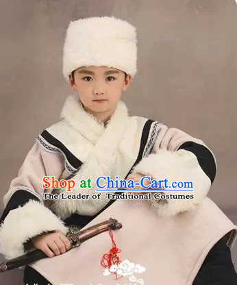 Chinese Costume Ancient China Ethnic Costumes Han Fu Dress Wear Outfits Suits Clothing for Kids