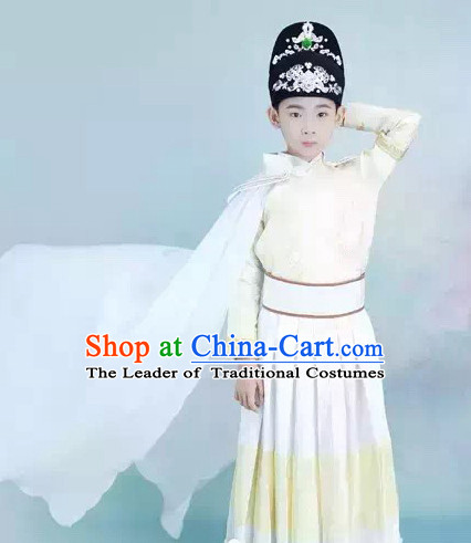 Tang Dynasty Chinese Swordsman Costume Ancient China Ethnic Costumes Han Fu Dress Wear Outfits Suits Clothing for Kids