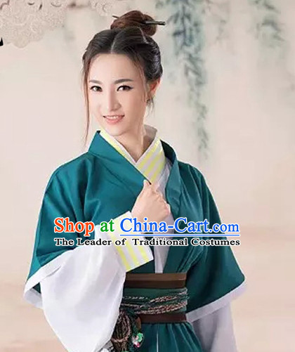 Chinese Han Dynasty Costume Ancient China Swordsmen Costumes Han Fu Dress Wear Outfits Suits Clothing for Women