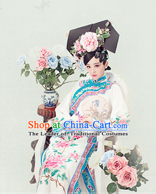 Chinese Qing Dynasty Costume Ancient China Costumes Han Fu Dress Wear Outfits Suits Clothing for Women