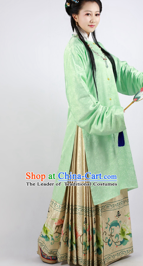 Ming Dynasty Clothing Chinese Ancient Costumes and Hair Accessories for Women