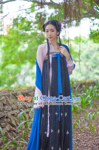 Asian Fashion Chinese Ancient Tang Dynasty Wife Clothes Costume China online Shopping Traditional Costumes Dress Wholesale Culture Clothing for Women