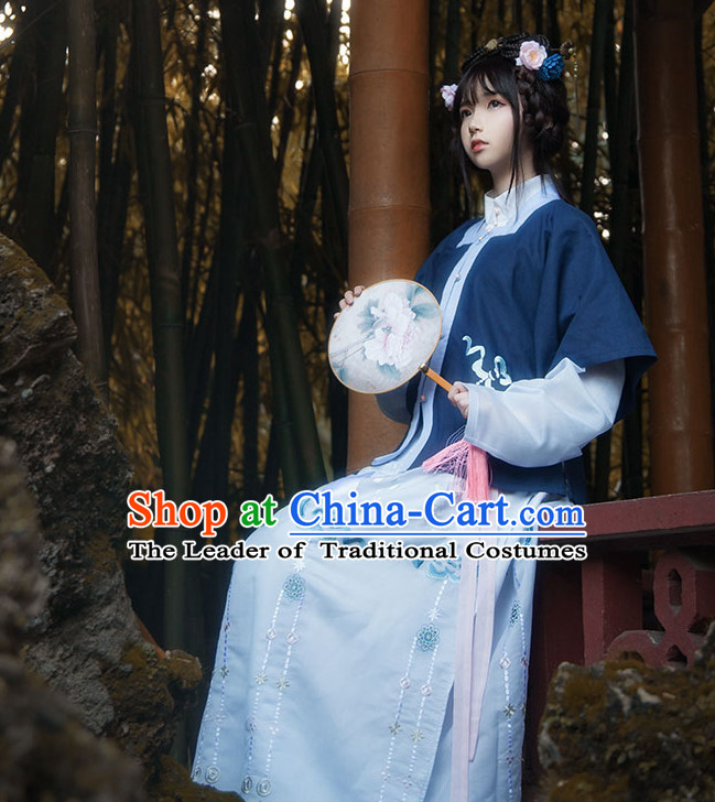 Asian Fashion Chinese Ancient Ming Dynasty Wife Clothes Costume China online Shopping Traditional Costumes Dress Wholesale Culture Clothing for Women