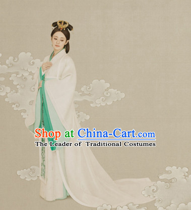 Chinese Han Dynasty Clothing National Costumes for Women