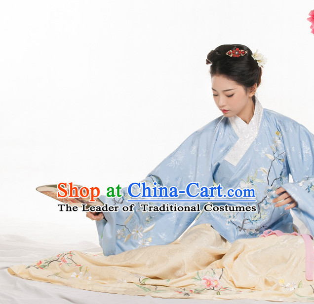 Chinese Ancient Ming Dynasty Spring Summer Costume China online Shopping Traditional Costumes Dress Wholesale Asian Culture Fashion Clothing and Hair Accessories for Women