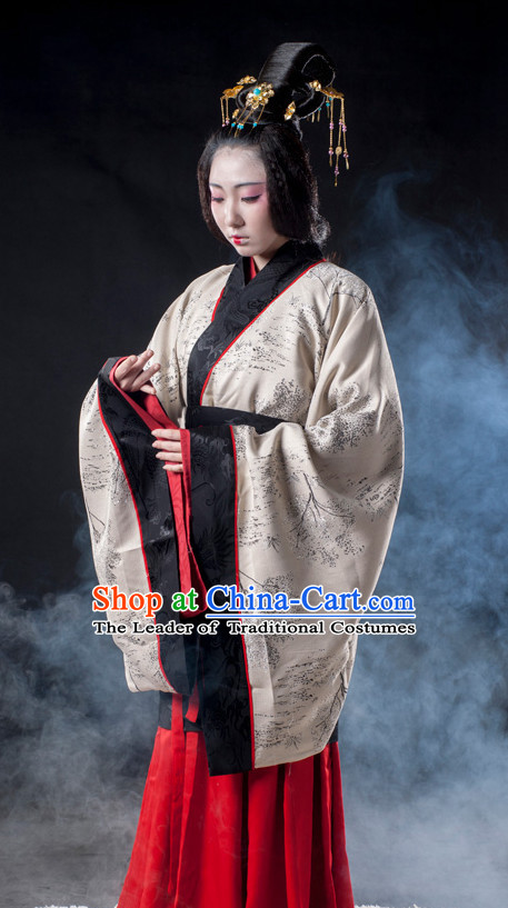 Chinese Ancient Han Dynasty Princess Clothes Costume China online Shopping Traditional Costumes Dress Wholesale Asian Culture Fashion Clothing and Hair Accessories for Women
