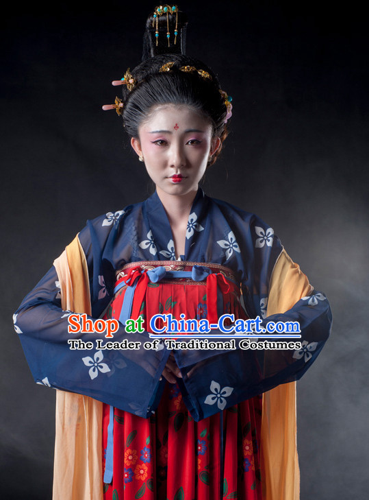 Chinese Ancient Tang Dynasty Princess Clothes Costume China online Shopping Traditional Costumes Dress Wholesale Asian Culture Fashion Clothing and Hair Accessories for Women