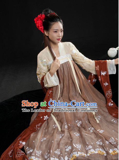 Asian Fashion Chinese Ancient Tang Dynasty Beauty Clothes Costume China online Shopping Traditional Costumes Dress Wholesale Culture Clothing and Hair Accessories for Women