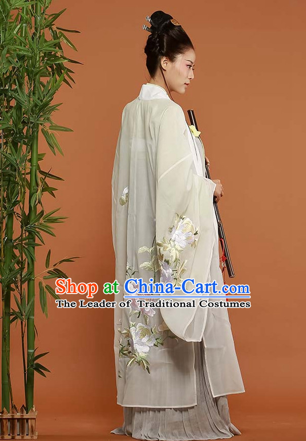 Asian Fashion Chinese Ancient Han Dynasty Embroidered Cranes Clothes Costume China online Shopping Traditional Costumes Dress Wholesale Culture Clothing and Hair Accessories for Women