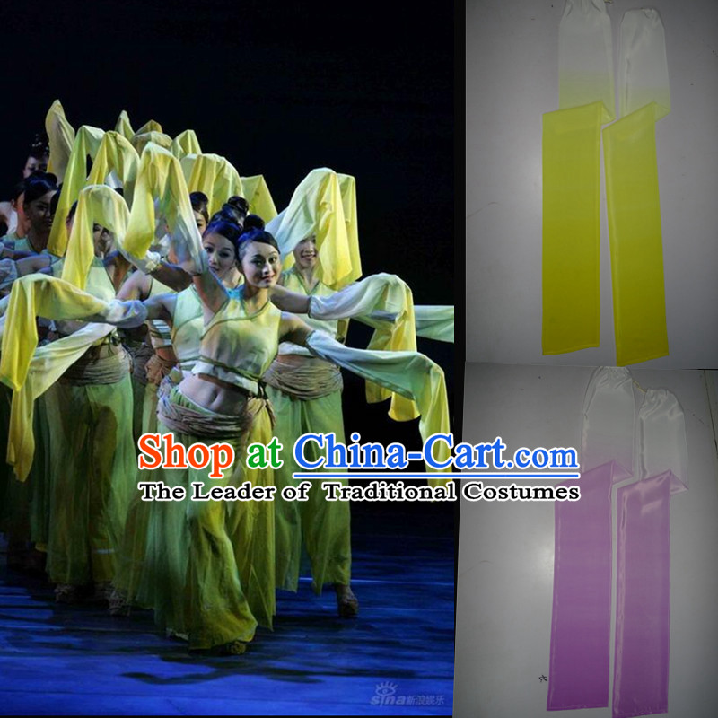 Chinese Classical Dance Outfits Group Dance Costumes with Long Sleeves