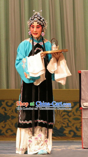 Chinese Opera Hua Dan Costume and Hair Jewelry Set