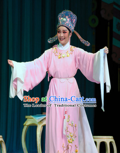 Chinese Beijing Opera Scholar Costumes and Headwear for Men