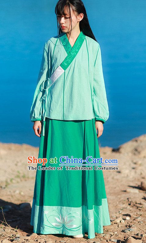 Chinese Ancient Ming Dynasty Female Clothing Complete Set