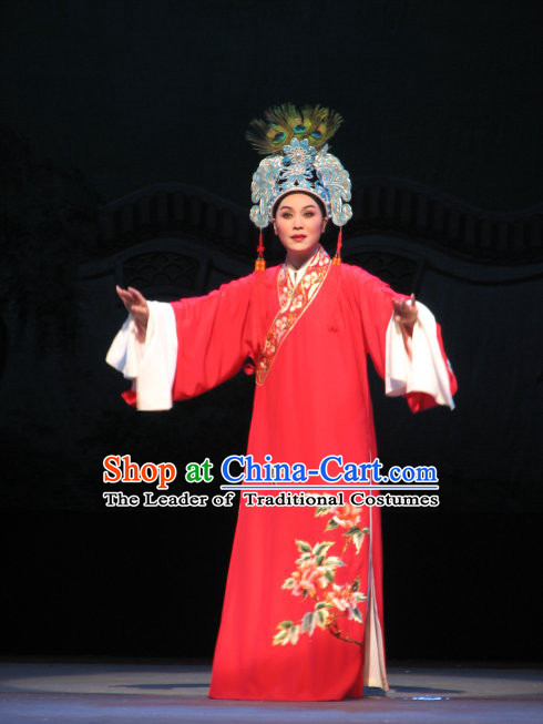 Chinese Opera Long Sleeves Scholar Costumes and Hat for Men