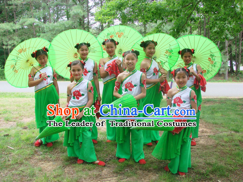 Stage Performance Chinese Folk Group Dance Costume Chinese Costumes Carnival Costumes Fancy Dress National Garment