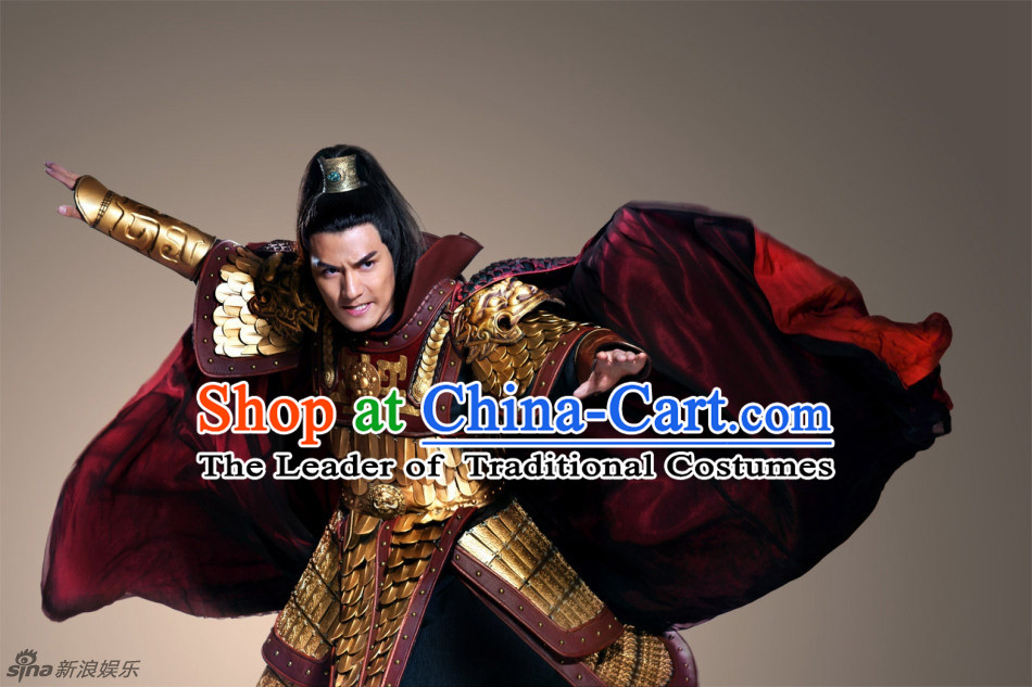 Ancient Chinese Armor Costume Chinese Ancient Costumes Carnival Costumes Fancy Dress Complete Set