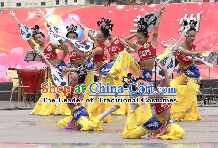 Ancient Chinese Style Fairy Kids Dance Costume Chinese Ancient Costumes Carnival Costumes Fancy Dress Complete Set