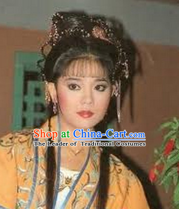 Ancient Chinese TVB Black Wig