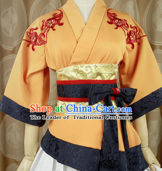 Ancient Asian Chinese Japenese Korean Knight Cosplay Costumes for Women