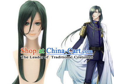 Ancient Asian Chinese Japenese Korean Knight Cosplay Long Wigs Classic Wig