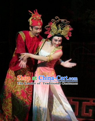 Ancient Chinese Asian Classical Dance Costumes Yang Yuhuan Costume and Headwear Complete Set