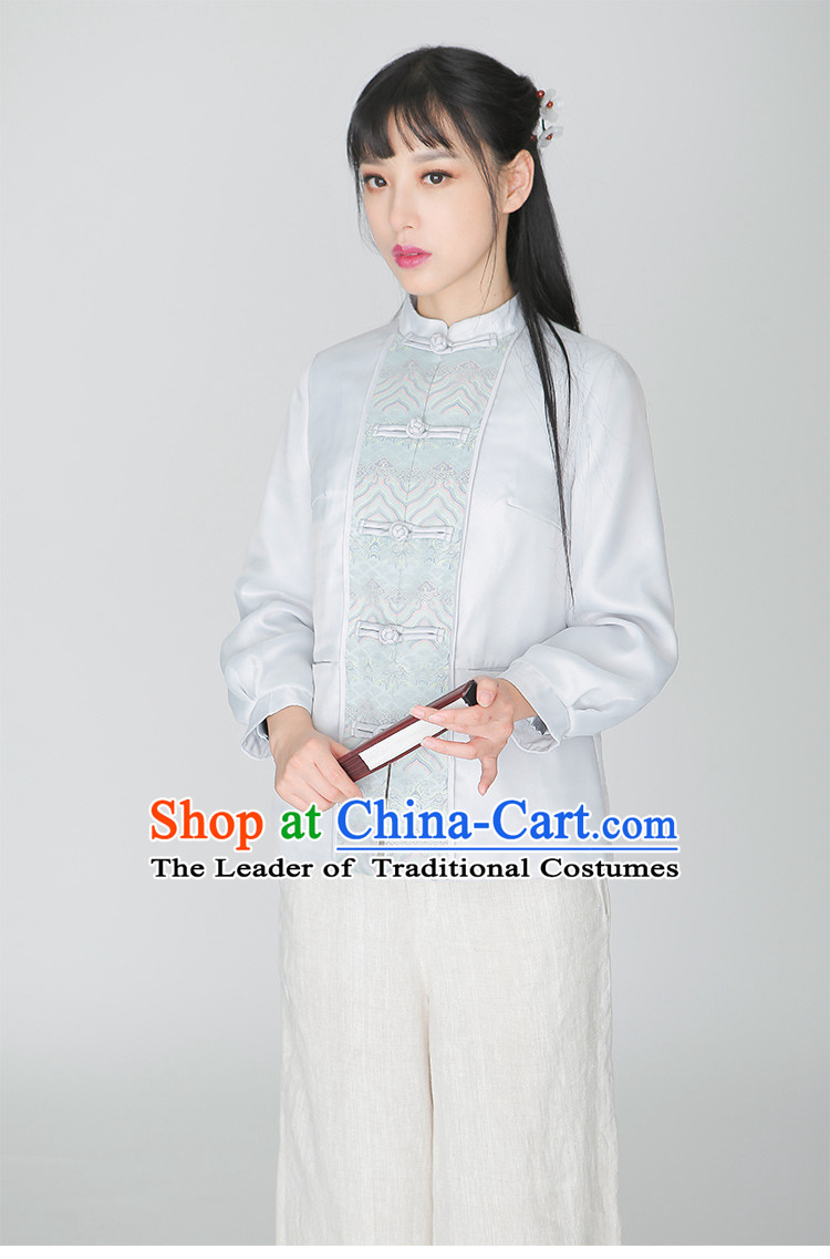 Traditional Chinese Hanfu Dress Garment and Hair Jewelry Complete Set