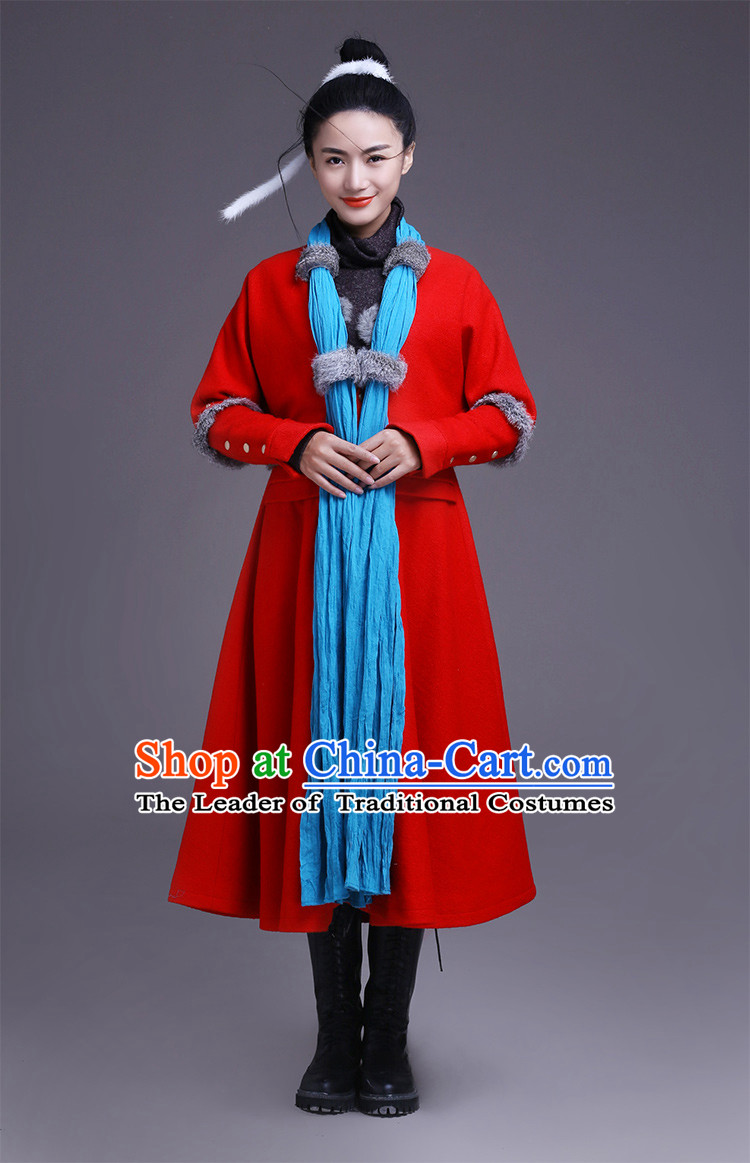 Traditional Chinese Mandarin Dress Garment and Hair Jewelry Complete Set