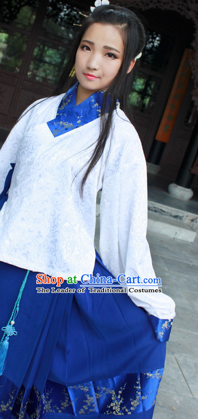 Chinese Costume Ancient Asian Korean Japanese Clothing Han Dynasty Clothes Garment Outfits Suits Women Men