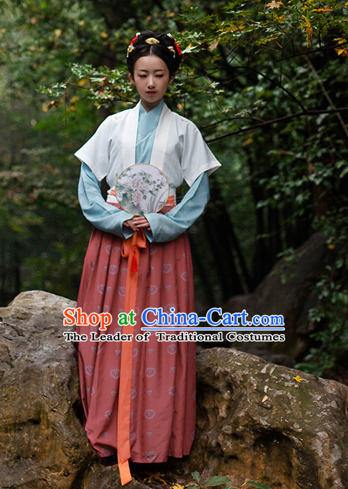 Chinese Costume Ancient Asian Clothing Han Dynasty Clothes Garment Outfits Suits