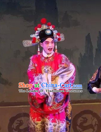 Chinese Opera Costumes Beijing Opera Costume Peking Stage Bridegroom Dress Dragon Robe Complete Set for Men
