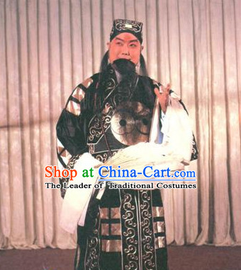 Chinese Opera Costumes Beijing Opera Costume Peking Stage Zhuge Liang Dress Dragon Robe Complete Set for Men
