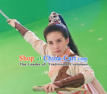 Ancient Chinese Swordswomen Wigs and Headpieces Hair Fascinators Headpieces