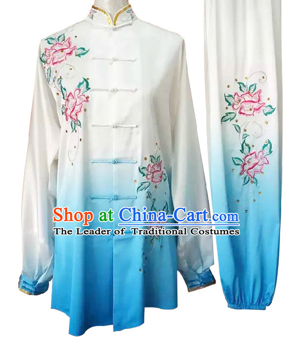 Top Embroidered Wing Chun Uniform Martial Arts Supplies Supply Karate Gear Tai Chi Uniforms Clothing for Women