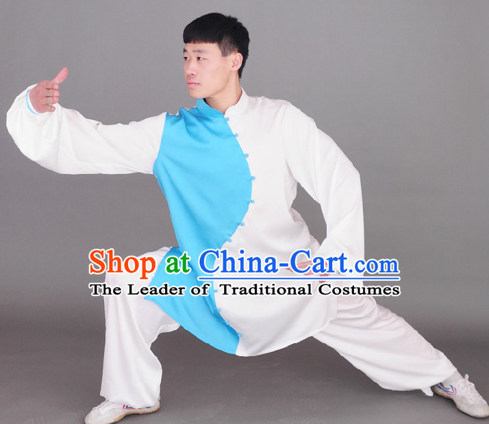 Top Tai Chi Chuan Uniform Taekwondo Karate Outfit Aikido Wing Chun Kungfu Wing Tsun Boys Martial Arts Supplies Clothing and Veil