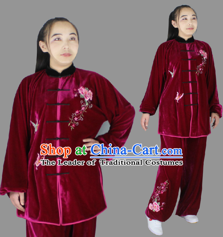 Top Long Sleeves Wing Chun Uniform Martial Arts Supplies Supply Karate Gear Tai Chi Uniforms Clothing for Boys and Men