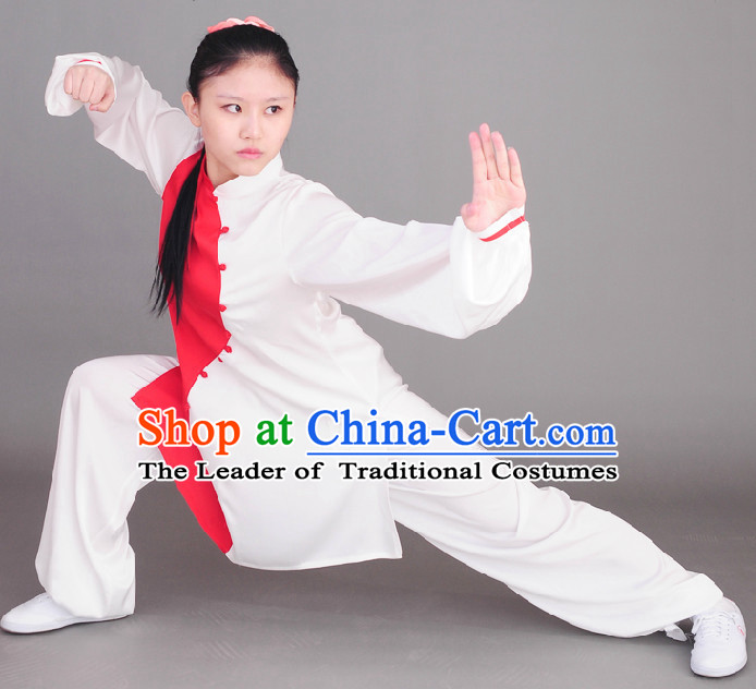 Top Tai Chi Chuan Uniform Taekwondo Karate Outfit Aikido Wing Chun Kungfu Wing Tsun Boys Martial Arts Supplies Clothing for Women or Men