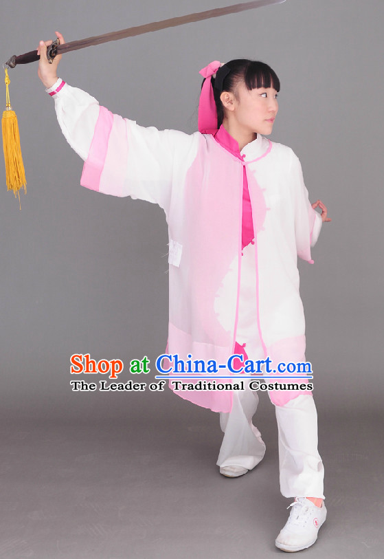 Top Long Sleeves Tai Chi Wing Chun Uniform Martial Arts Supplies Supply Karate Gear Tai Chi Uniforms Clothing and Veil for Women or Men