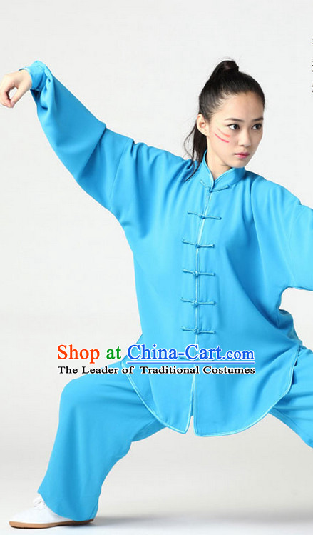Blue Top Kung Fu Martial Arts Karate Wing Chun Supplies Training Uniforms Gear Clothing Shop for Kids and Adults