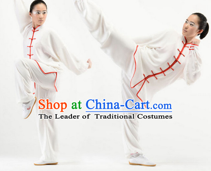 White Top Kung Fu Martial Arts Karate Wing Chun Supplies Training Uniforms Gear Clothing Shop for Kids and Adults