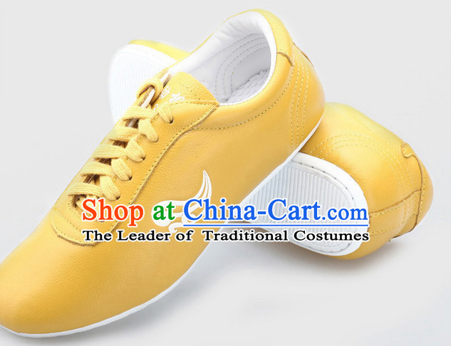 Top Kung Fu Martial Arts Karate Wing Chun Supplies Training Shop Cowhide Shoes for Kids and Adults